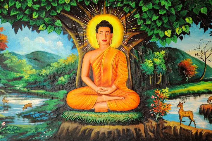 Buddhismo indiano Buddha painted image